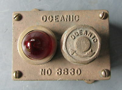 Oceanic 3830 BOAT SHIP LIGHT Switch Solid BRONZE VINTAGE ~ Steampunk ~ NOS