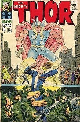 The Mighty Thor # 138 - Odin - Ulik - Sif - Tales Of Asgard - Kirby Art