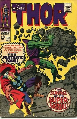 The Mighty Thor # 142 - Super-Skrull - Loki - Sif - Odin -Kirby Art - Cents Copy