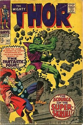 The Mighty Thor # 142 - Super-Skrull - Loki - Sif - Odin - Kirby Art