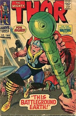 The Mighty Thor # 144 - Sif - Odin - Balder -Kirby Art - Scarce In Uk