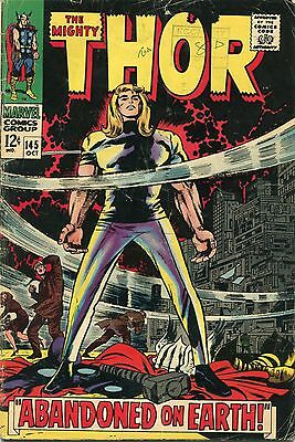 The Mighty Thor # 145 - Tales Of Asgard Story - Cents Copy - Jack Kirby Art