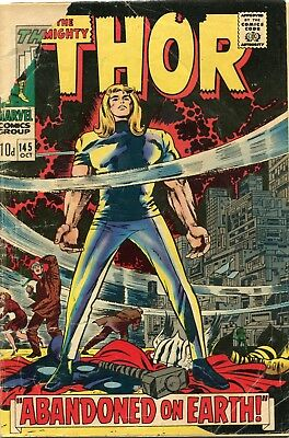 The Mighty Thor # 145 - Tales Of Asgard Story  - Jack Kirby Art