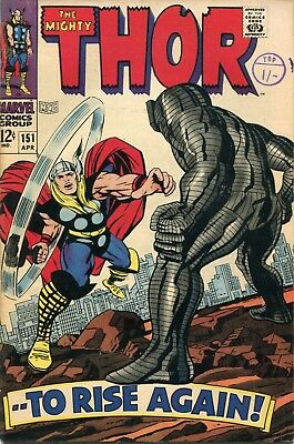 The Mighty Thor # 151 - Thor Vs The Destroyer - Inhumans Back Up - Kirby Art