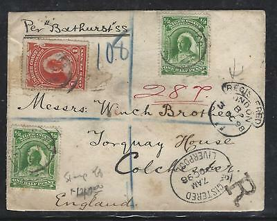 Niger Coast Protectorate (Pp2107B)  Qv 1/2Dx2+1D+Stamp Off Reg 1898 To England