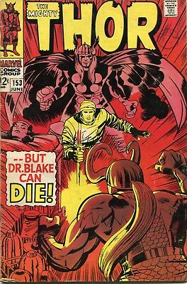 The Mighty Thor # 153 - Loki Steals Thor's Hammer - Thor As Dr Blake - Kirby Art