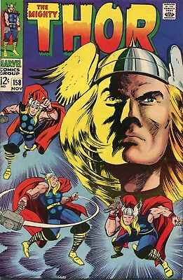 The Mighty Thor # 158 - Origin Story With New Pages - Kirby Art - Cents Copy