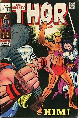 The Mighty Thor # 165 - 1St Full Appearance Of Adam Warlock - Key  - Kirby Art