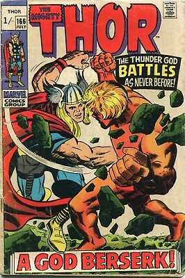 The Mighty Thor # 166 - 2Nd Full Appearance Of Adam Warlock - Key  - Kirby Art