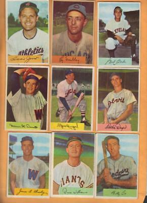 34 Diff 1954 Bowman mainly EXMT, nice starter lot of 68 year old cards
