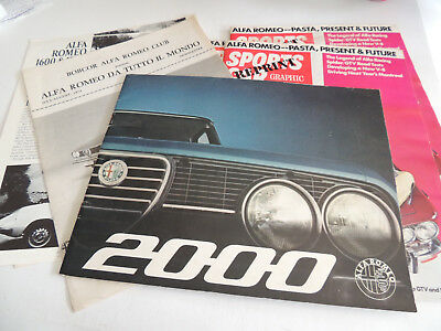 Vintage Alfa Romeo auto brochure lot large group!