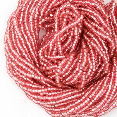 11/0 Silver Lined Old Rose Czech Seed Bead (10 Gm, Hank, 1/2 Kilo) #CSG153