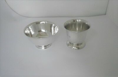 Antique Small Repro Paul Revere Bowl And Pedestal Base Cup, Total Wt. 116 Grams