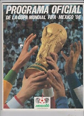 1986 World Cup Finals.Tourn Brochure.Rare Mexican Edition.