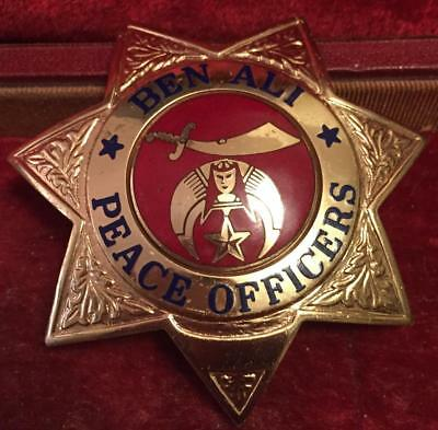 Shrine Peace Officers Badge Sacramento Ben Ali Temple Entenmann Hallmark