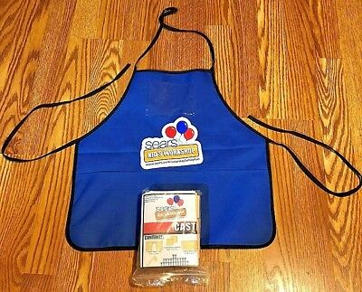 RARE NEW SEARS KIDS WORKSHOP DIY APRON CASTLE Wooden WORK SHOP - FREE SHIPPING