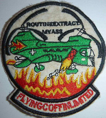 FLYING COFFINS - Patch - CHINOOKS - Routine Extract My Ass - Vietnam War - L