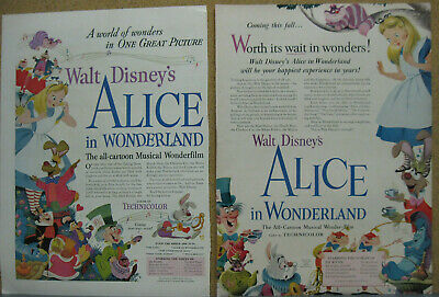 Alice in Wonderland Ad Walt Disney Print Ad
