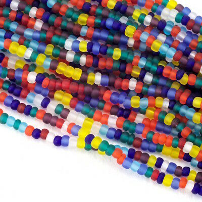 11/0 Matte Transparent Multi Mix Czech Seed Bead (10 Gm, Hank, 1/2 Kilo) #CSG254