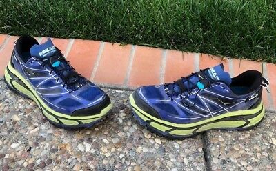 timeless design 7ace9 9ae76 $160 MENS 12.5 Hoka One One Mafate Speed Blue Lime Black Running Shoes  Trail 2