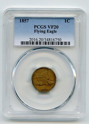 1857 Flying Eagle Cent. (VF 20) PCGS
