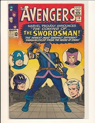 Avengers # 19 VG/Fine Cond. small tear in front cover