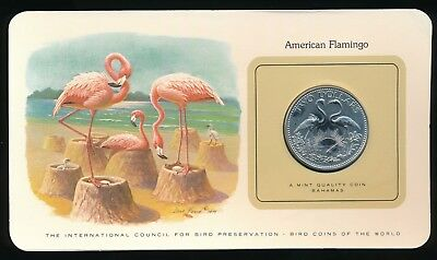 Bahamas Bird Coins of The World 1979 Flamingo $2  Coin 300 Minted Scarce