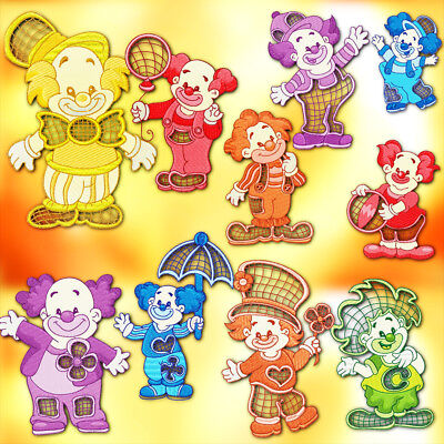 Clowns 10 Machine Embroidery Designs Cd 3 Sizes Included