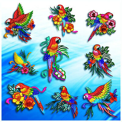 Stunning Parrots 10 Machine Embroidery Designs Cd 3 Sizes