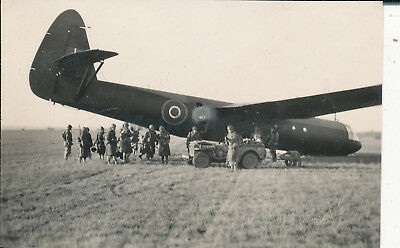 1944 USAAF 435th TCG 77th Troop Carrier Sq Welford Park Photo Glider airplane