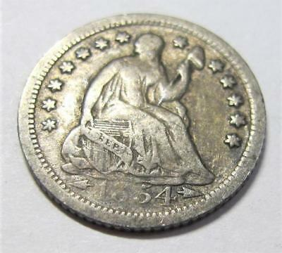 1854-O U.S. Seated Liberty Half Dime * Better Grade * Toned * Nice For Book
