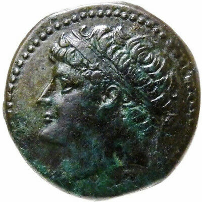 HEIRON II SYRACUSE Soldier Horsesback XF 275 BC Large Ancient Greek Coin Sicily