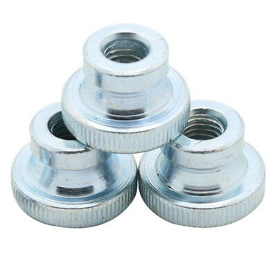 10Pcs GB806 M3 M4 M5 Galvanized Knurled Thumb Nut Iinstrument Hand Tighten Nut