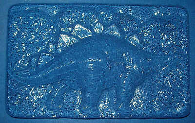 Large Rectangle With A Stegosaurus Dinosaur Chocolate Mould Or Plaster Mould