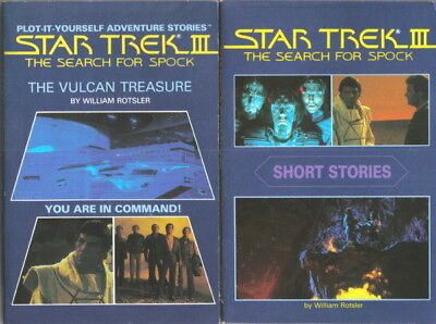 Star Trek III: The Search for Spock Set of Two Adventure Books NEW UNREAD