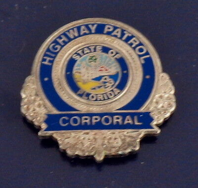 Florida FL Highway Patrol CORPORAL mini badge LAPEL PIN FLHP (state police) CPL