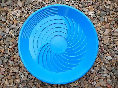 "Turbopan BLUE Gold Pan VORTEX ACTION! Panning 16"" Prospecting Mining Turbo Pan"