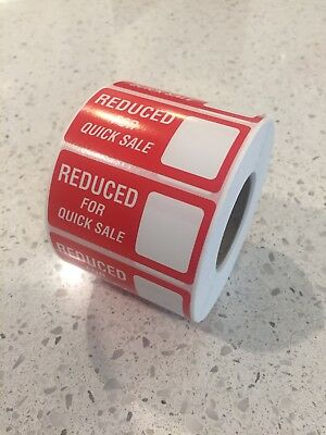 RFQS - Reduced For Quick Sale Self Adhesive Labels - POS QTY: 1,000 Labels