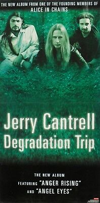 "Jerry Cantrell ""degradation Trip"" 2-Sided U.s. Promo Cardboard Poster / Banner"