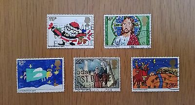 Complete GB used stamp set - 1981 Christmas (Children's Pictures)