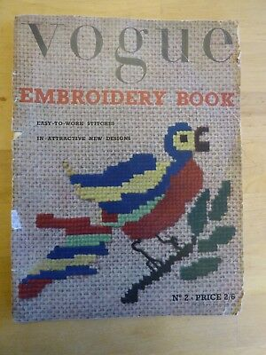 VOGUE EMBROIDERY BOOK N0 2, 1950's,