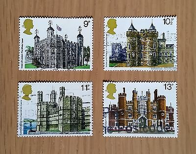 Complete GB used stamp set: 1978 British Architecture: Historic Buildings