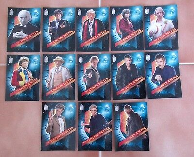 "Dr Doctor Who TOPPS TIMELESS - Stunning Set of 13 ""Doctors Across Time"" Cards"