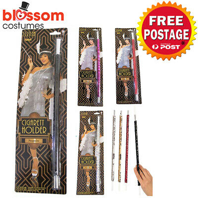 AC512 Sequinned 1920s Flapper Gatsby Cigarette Holder Gangster Costume Accessory