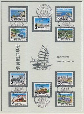 10 Briefmarken Republic of China Technik Verkehr Transport Energie Logistik 1981