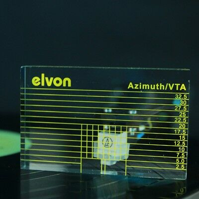 elvon LP Vinyl record player Measuring phono Tonearm VTA/Cartridge Azimuth Ruler