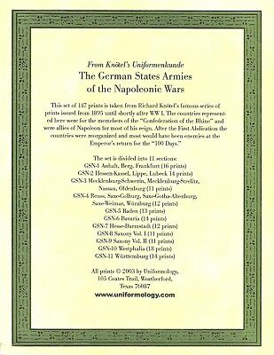 """Knötel: """"The German States Armies of the Napoleonic Wars"""""""