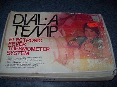 vintage Dial-A-Temp fever thermometer system electronic w/box