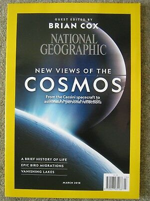 National Geographic March 2018 Brian Cox Cosmos Bird Migrations Vanishing Lakes