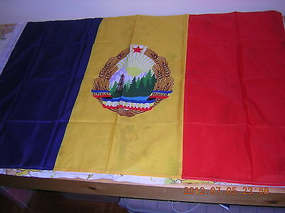 100% NEW Reproduced Flag of Pre 1989 Romania under Communist Rule  Ensign 3X5ft
